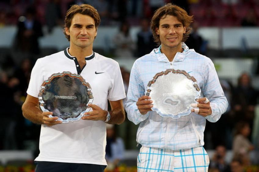 Награждаването на Федерер и Надал след последните 10 финала (галерия)